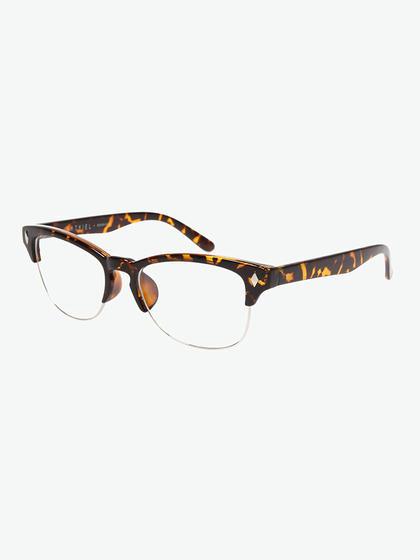 natkiel 豹纹半金属边框眼镜