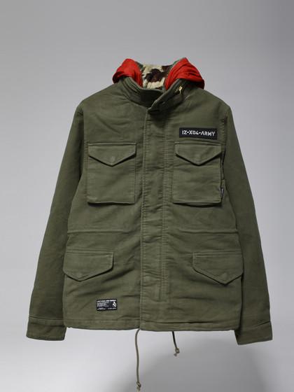 izzue army line 迷彩三穿棉衣图片