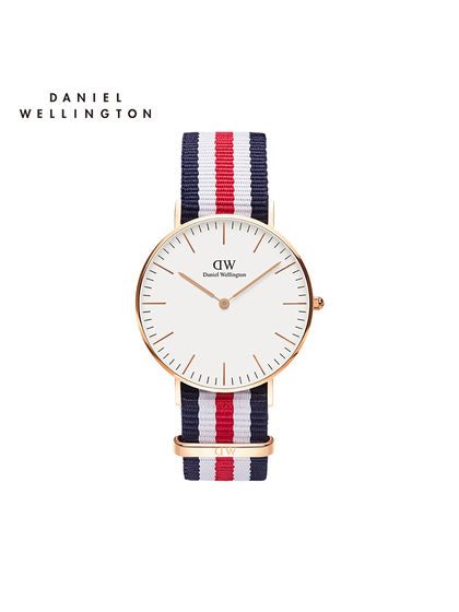 DW|Daniel Wellington|男款|手表|Daniel Wellington Canterbury 撞色織紋女士腕表