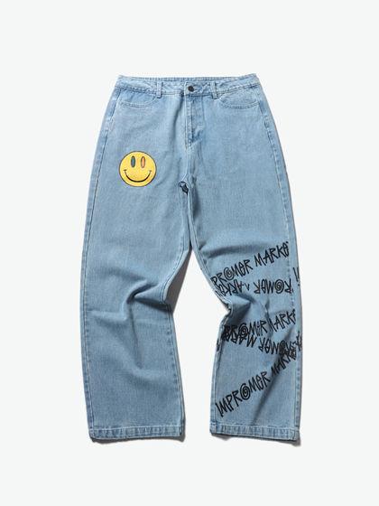 Improper|男款|牛仔褲|Improper 膠印牛仔長褲