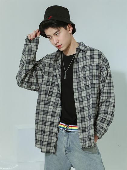 BAIJUAN|白卷BAIJUAN|男款|襯衫|白卷BAIJUAN  復古格子長袖襯衫