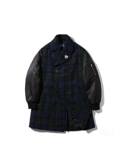 MADNESS|MADNESS|男款|夹克|MADGIRL X HARRIS TWEED PEACOAT
