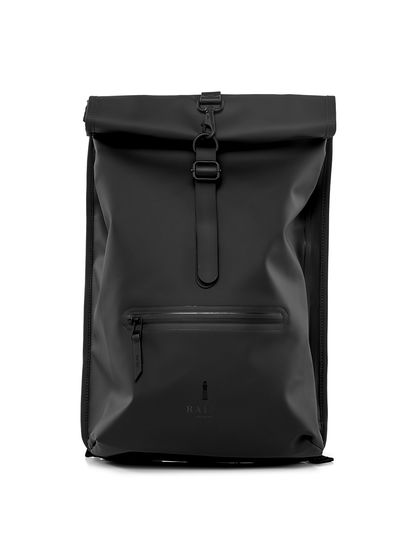 RAINS|RAINS|男款|双肩包|RAINS  简约休闲背包 Roll Top Rucksack Black
