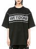 WE11 DONE|WE11 DONE|男款|T恤|WE11 DONE BLACK REFLECTIVE LOGO T-SHIRT