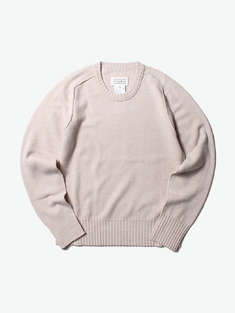 Maison Margiela|男|Maison Margiela Gauge 7/jersey+elbow patches knitwear